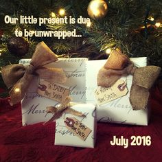 Christmas Birth Pregnancy Announcement