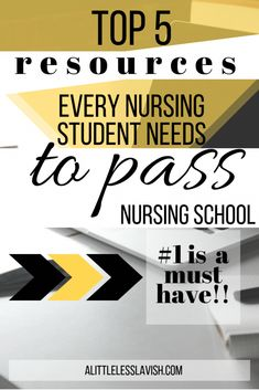 The Top 5 Resources Used By Straight A Nursing Students Passing med-surg nursing doesn't have to be impossible. Check out these top 5 must-have resources to make the grade over and over again and PASS med-surg! Nursing Degree, Nursing Jobs, College Nursing, School Nursing, Med Surg Nursing, Online Nursing Schools, Education College, Becoming A Nurse, Online Programs