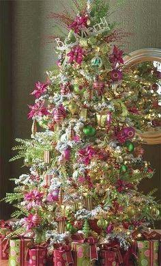 Cute Pink & Green Christmas Tree