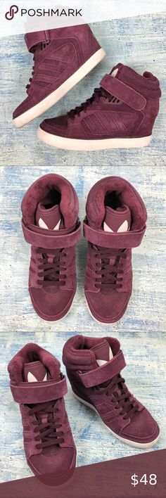 LEATHER WEDGE TRAINER SHOE BOOTS SZ 3-8 NEW LADIES GIRLS EX STORE FAUX SUEDE