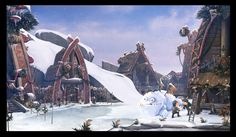 How to train your dragon/ the night fury Picture  (2d, fantasy, viking, village, dragon, snow)