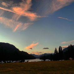 Première session de camping sous les étoiles et un coucher de soleil magnifique au coeur de la route des 7 lacs.
