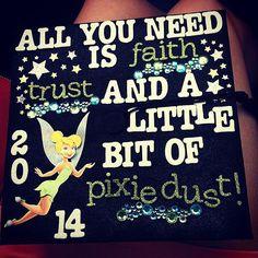 Tinkerbell Inspired Graduation Cap