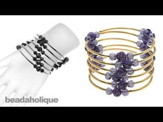 ▶ Instructions for Making the Memory Wire Noodle Bead Bracelet Kit - YouTube