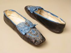 Shoes 1860, French, Made of kid and satin