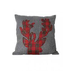 Plaid Reindeer Pillow // potential DIY $25