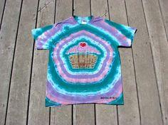 Tie Dye Cupcake Tee Medium Zengrrl Stripes by Moon Dyes