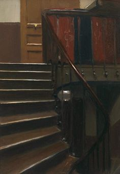 Edward Hopper - Stairway at 48 Rue de Lille, Paris, 1906