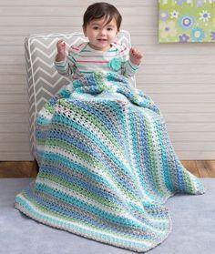 Cuddle Me Blanket Free Crochet Pattern from Red Heart Yarns