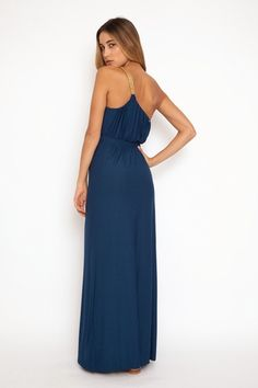 T-Bags One shoulder dress in blue