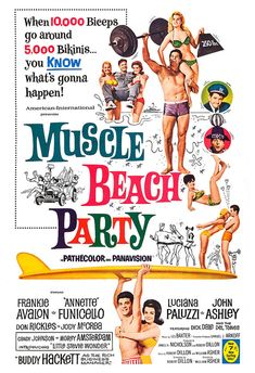 Muscle Beach Party  Movie Musical Comedy Poster Print by jangoArts, $19.50