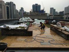 서초동 건물 옥상조경 공사