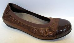Vionic 'Allora' Brown Leather Ballet Flat Size EU 38/US 7 #Vionic #BalletFlats