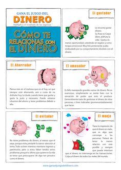 Tu personalidad en relación al dinero. Material anexo de www.ganaeljuegodeldinero.com por Israel Pardo