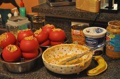 KONG Stuffing recipe:  Pumpkin, a little oatmeal, yogurt, banana, peanut butter