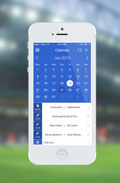 jpg by Samuel Nudds Ios Calendar, Calendar Ideas, Calendar Design, Mobile Web Design, Ios Design, Dashboard Ui, Ui Ux, Calendar Organization, Android