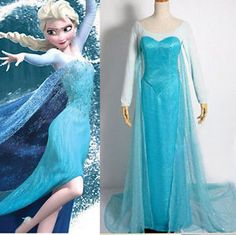 Frozen Elsa Queen Costume let it go~ Let it go~ You can let go everything else beside this 'Princess' Dress