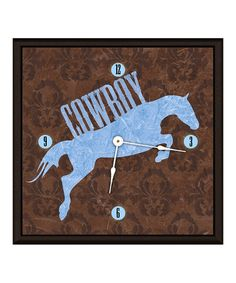 Take a look at this Blue Horse II Art Clock by Green Leaf Art on #zulily today!