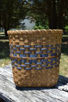 Large Woven Reed Basket Storage Yarn Sewing by BrightExpectations, $48.00