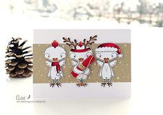 Merry Christmas, Christmas Cards, Winter Holidays, Card Making, Stamp, Seasons, Create, Instagram Posts, Projects