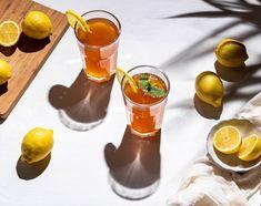 Receta de té helado al limón
