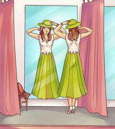 Zoek de fout (armen in het spiegelbeeld)