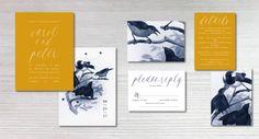 LOVE BIRDS Wedding Invitation Set Save the date RSVP by INVITALIA #lovebirds #classicwedding #social #sophisticatedwedding #printableweddinginvitations #digitalwedding