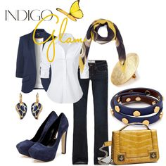 """Indigo Glam"" by alison-louis-ellis on Polyvore"