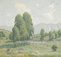 Mountain landscape at Norway, Olden - William Henri Singer | Studio 2000