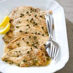 Chicken Piccata.  Easy dinner recipe. #easy #chicken #dinner #food