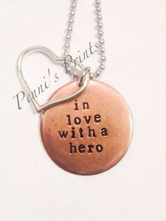 Hand stamped In Love With A Hero army wife army by PENNISPRINTS