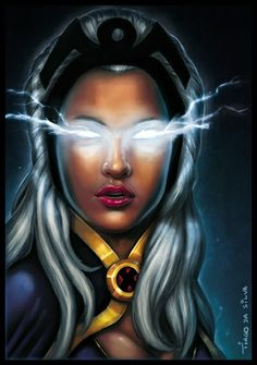 MARVEL: Ororo Munroe a.a STORM just added some fx to the illustration, here's the other version:[link] wich one you like best? more of them soon Fan art The character is property of Marvel IRON-M. Comic Book Characters, Comic Book Heroes, Comic Character, Comic Books Art, Comic Art, Main Character, Character Creation, Storm Xmen, Storm Marvel