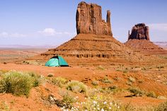 Camp in the middle of the desert.