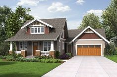 Cottage Style House Plan - 3 Beds 2.50 Baths 2256 Sq/Ft Plan #48-704 Exterior - Front Elevation - Houseplans.com