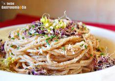 Recetas con espaguetis para el Lunes sin carne