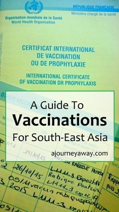 A guide to vaccinations for South-East Asia