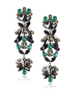 Joanna Laura Constantine Gatsby Crystal Dangling Earrings
