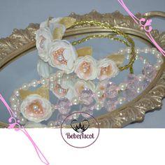 Set diadema de corona  y collar para bebe
