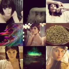 Gemma Arterton as Circe, sorceress and minor goddess of magic, renowned for her vast knowledge of herbs and potions.
