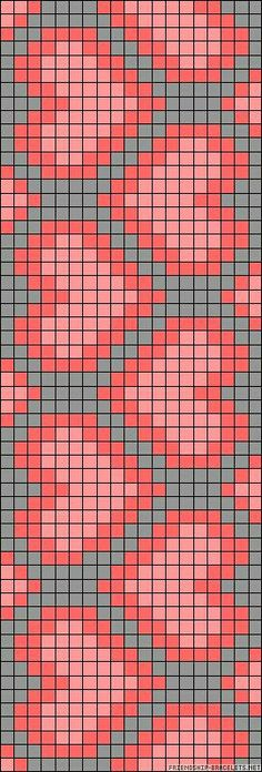 heart chart could be used for knitting, crochet, cross-sitch. Might be great on a wayuu mochilla
