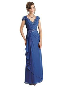 Vivebridal Women's Long Mother of the Bride Evening Dress with Beadings and Pleat Blue 6 Vivebridal http://www.amazon.com/dp/B012HZMENG/ref=cm_sw_r_pi_dp_S9ZSvb0V9SXQ7