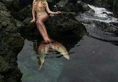 Imagen de mermaid, grunge, and ocean
