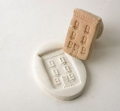 Clay Stamp Paris Townhouse New York City Brownstone by GiselleNo5
