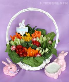 Looking for a fun and easy way to jazz up the same old relish tray for Easter? Well, here is a fun idea to transform those veggies into a work of art. Take those delicious and colorful veggies, get rid of the tray, and add a basket. Easy and beautiful! Whether you serve it on …