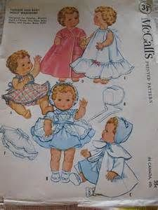 McCalls 2349 - 1959 designs for toodles ginette gigi's lit sister tiny tears betsy wetsy and Dydee Baby dolls 8 to 25""