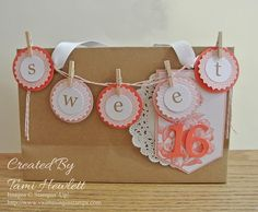 The February kit works so well with the Heartfelt banner kit from Sale-A-Bration.