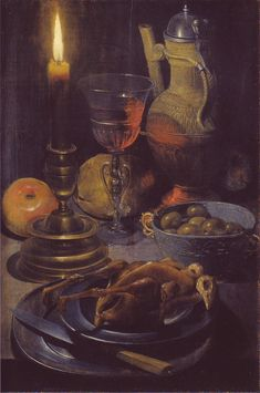 §§§ : Abendmahlzeit bei Kerzenschein : Georg Flegel : 1566-1638   http://commons.wikimedia.org/wiki/Georg_Flegel