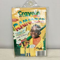 Vintage Crayola Raincoat for Kids 1998 Vinyl Up To Size 6 Colorful Crayons #Crayola #Raincoat Kids Coats Girls, Kids Girls, Vinyl Raincoat, Color Crayons, Puzzles For Kids, Cute Kids, Super Cute, Merry, Ebay Clothing