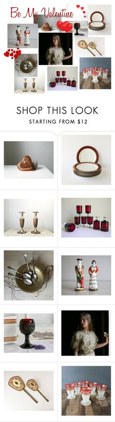 """""""Be My Valentine"""" by beejaykay ❤ liked on Polyvore featuring interior, interiors, interior design, home, home decor, interior decorating, Luminarc and vintage"""