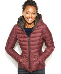 d41910f4 Nautica Reversible Hooded Quilted Packable Puffer Coat & Reviews - Coats -  Women - Macy's